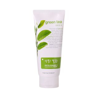The Face Shop - Green Tea Phyto Powder In Cleansing Foam