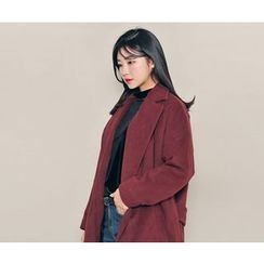 HOTPING - Notched-Lapel Open-Front Coat