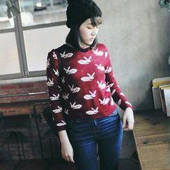 Tokyo Fashion - Rabbit-Print Sweater