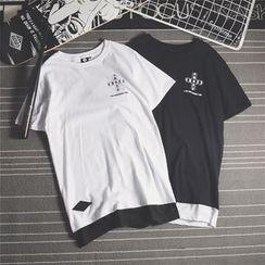 Mr.C studio - Print Short-Sleeve T-Shirt