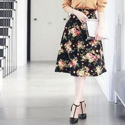 Tokyo Fashion - Floral Midi Skirt