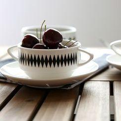川岛屋 - 印花杯碟套装