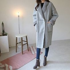 Hello sweety - Snap-Button Faux-Shearling Coat