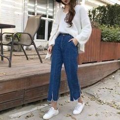 Windflower - Wide-Leg Cropped Jeans