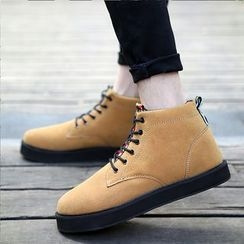 Chariot - Platform Lace-Up Chukka Boots