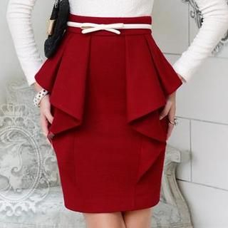 Dabuwawa - Ruffled Pencil Skirt