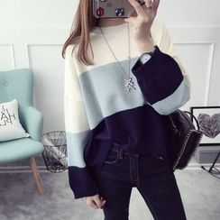 Qimi - Color Block Sweater