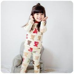 Rakkaus - Kids Pajama Set: Long-Sleeve Printed Top + Printed Pants