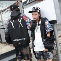 Mys Homme - Printed Hooded Jacket