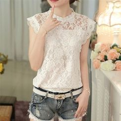 EFO - Cap-Sleeve Lace Top