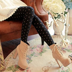Eva Fashion - Heart Patterned Leggings