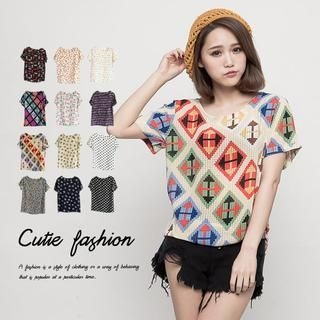 CUTIE FASHION - Short-Sleeve Printed T-Shirt