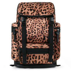 Mr.ace Homme - Leopard-Print Panel Backpack