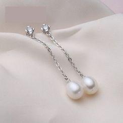 微微珍珠 - 淡水珍珠耳墜