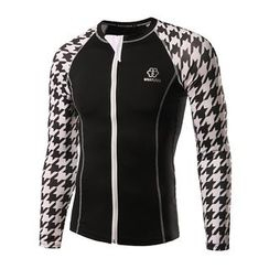 Fireon - Houndstooth Panel Zipped Sports Top