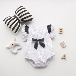 MOM Kiss - Baby Bow Frill Trim Bodysuit