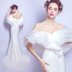 Angel Bridal - Off-Shoulder Wedding Dress