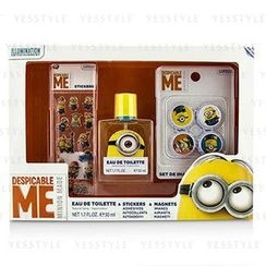 Air Val International - Minions Coffret: Eau De Toilette Spray 50ml/1.7oz + Magnets + Stickers