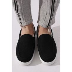 Ohkkage - Fleece-Lined Slip-On Shoes
