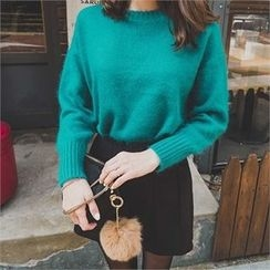 ERANZI - Crew-Neck Wool Blend Knit Top