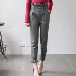 Tokyo Fashion - Paperbag-Waist Belted Tapered Pants