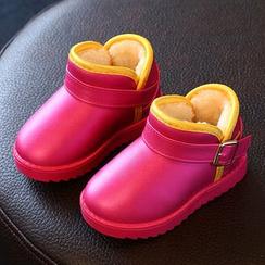 綠豆蛙童鞋 - 童裝毛裡短靴