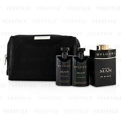 Bvlgari - In Black Coffret: Eau De Parfum Spray 100ml/3.4oz + After Shave Balm 75ml/2.5oz + Shower Gel 75ml/2.5oz + Pouch