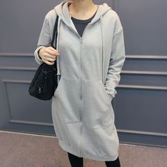 DANI LOVE - Kangaroo-Pocket Long Hoodie