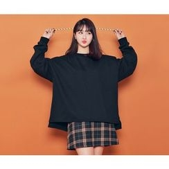 HOTPING - Drop-Shoulder Loose-Fit Sweatshirt