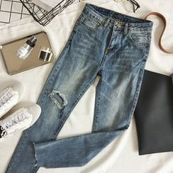 CaraMelody - Distressed Jeans