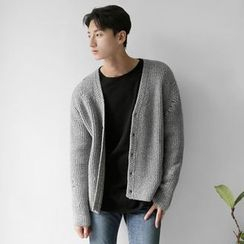 Seoul Homme - Wool-Blend V-Neck Cardigan