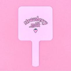 chuu - 'Strawberry Milk' Mirror with Handle