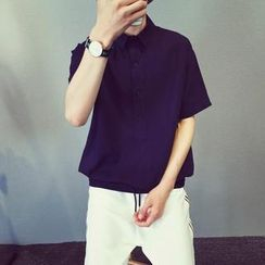 Mr. Cai - Short-Sleeve Plain Shirt