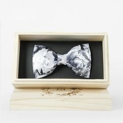 Fourthomme - Floral Print Bow Tie