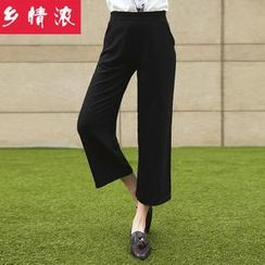 Cobogarden - Cropped Wide-leg Pants