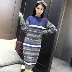 Florie - Color-Block Sweater Dress