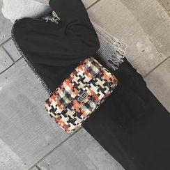 Rosanna Bags - Chain Strap Plaid Shoulder Bag