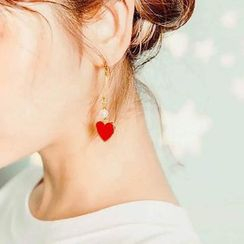Diplet - Heart Drop Earrings