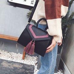 Rosanna Bags - Tasseled Contrast Trim Shoulder Bag