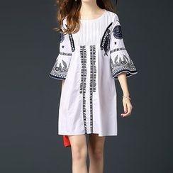 Alaroo - Patterned Bell-Sleeve Dress