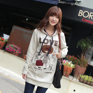 CLICK - Hooded Print Pullover
