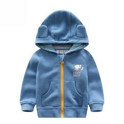 Endymion - Kids Elephant Print Hooded Zip Jacket