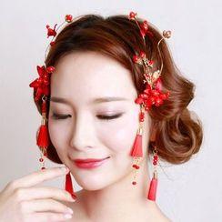 constello - 套装: 花朵发夹 + 耳环