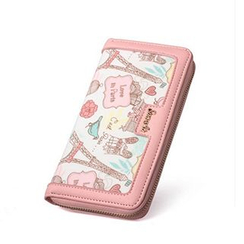 SUOAI - Eiffel Tower Printed Long Wallet