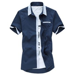 Riverland - Contrast Trim Short-Sleeve Shirt