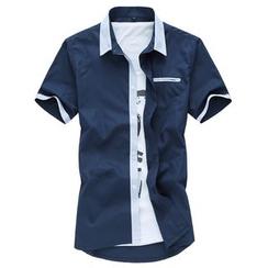 Riverland - 配色边短袖衬衫