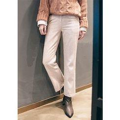 Chlo.D.Manon - Flat-Front Boot-Cut Pants