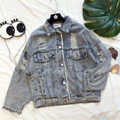 Honeydew - Distressed Denim Jacket