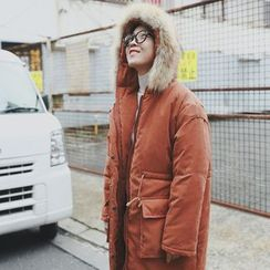 STILL YOU - Furry Trim Hooded Parka