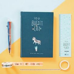 Cute Essentials - Set: Bucket List Planner + Masking Tape + Multicolor Pen + Ruler
